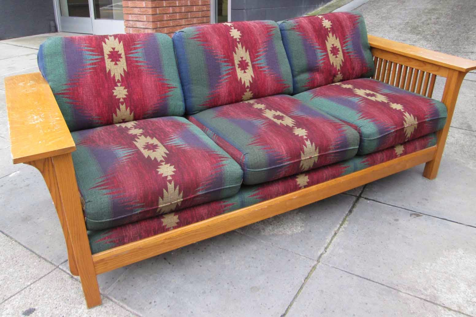 Sold Mission Style Southwest Sofa 85