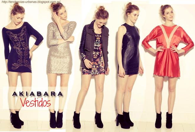 Akiabara vestidos cortos invierno 2013
