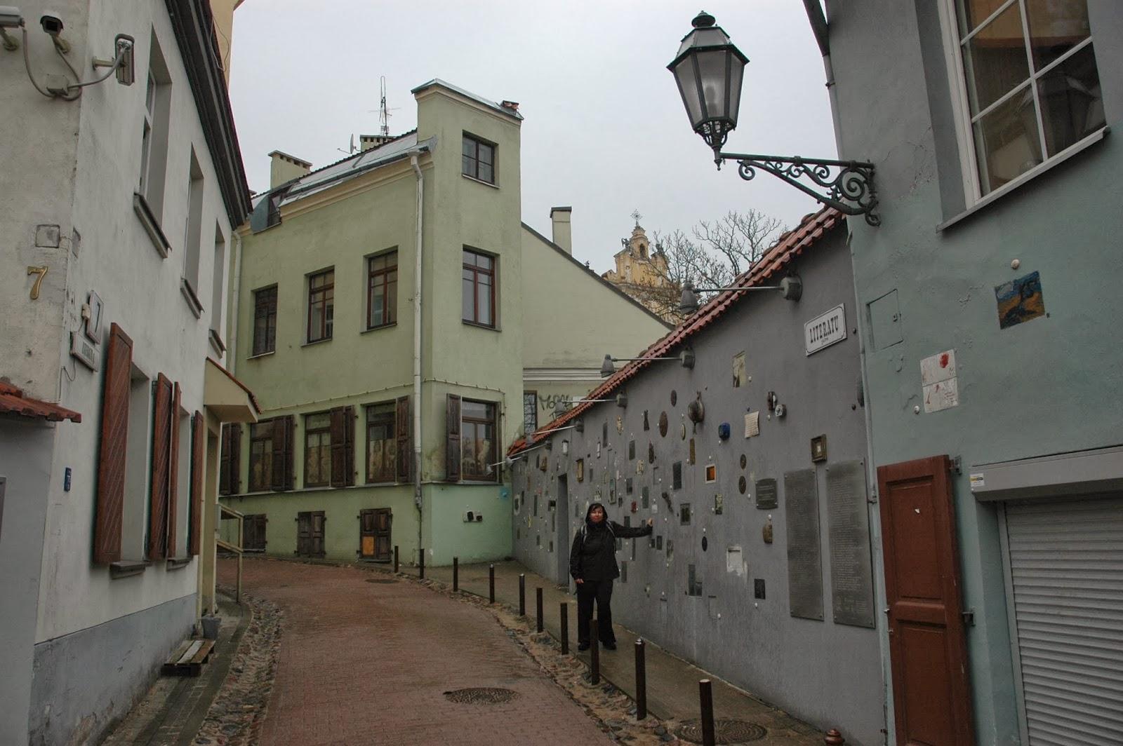 ulica Literatów w Wilnie Literatų