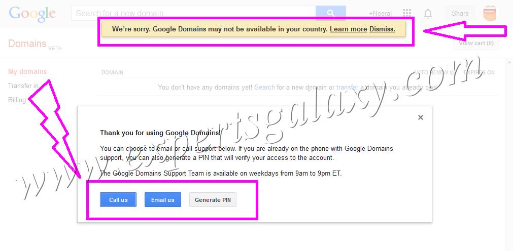 Google Domains US Availability