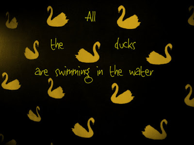 All the Ducks are Swimming in the Water