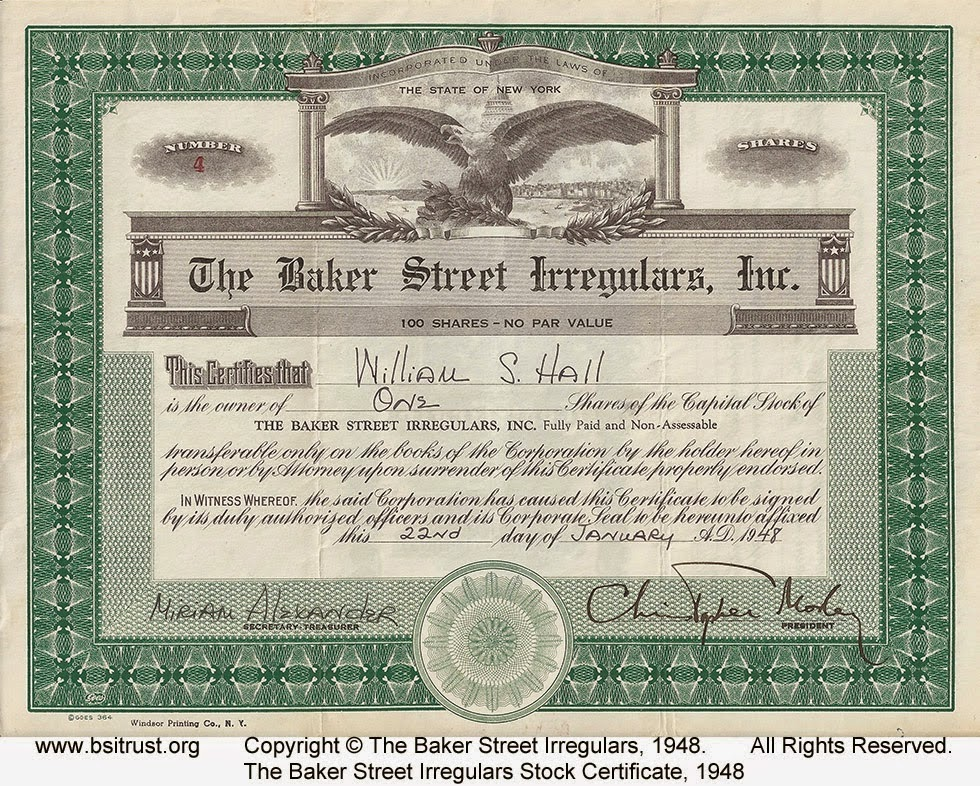 1948 BSI Incorporated stock certificate