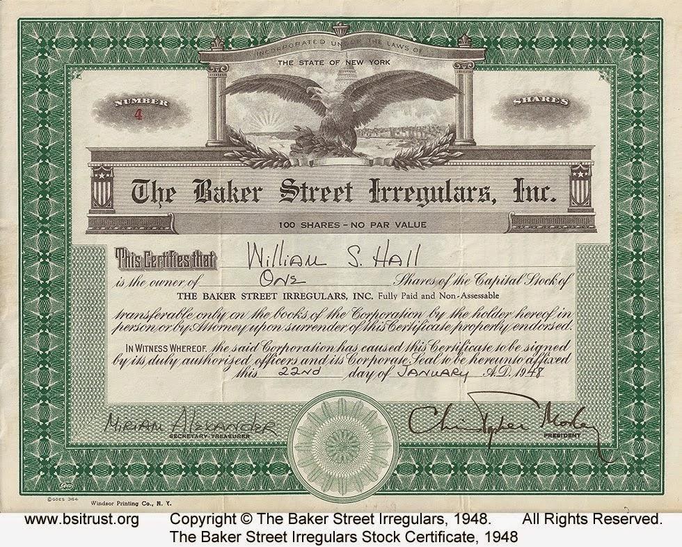 1948 BSI Incorporated stock certificate