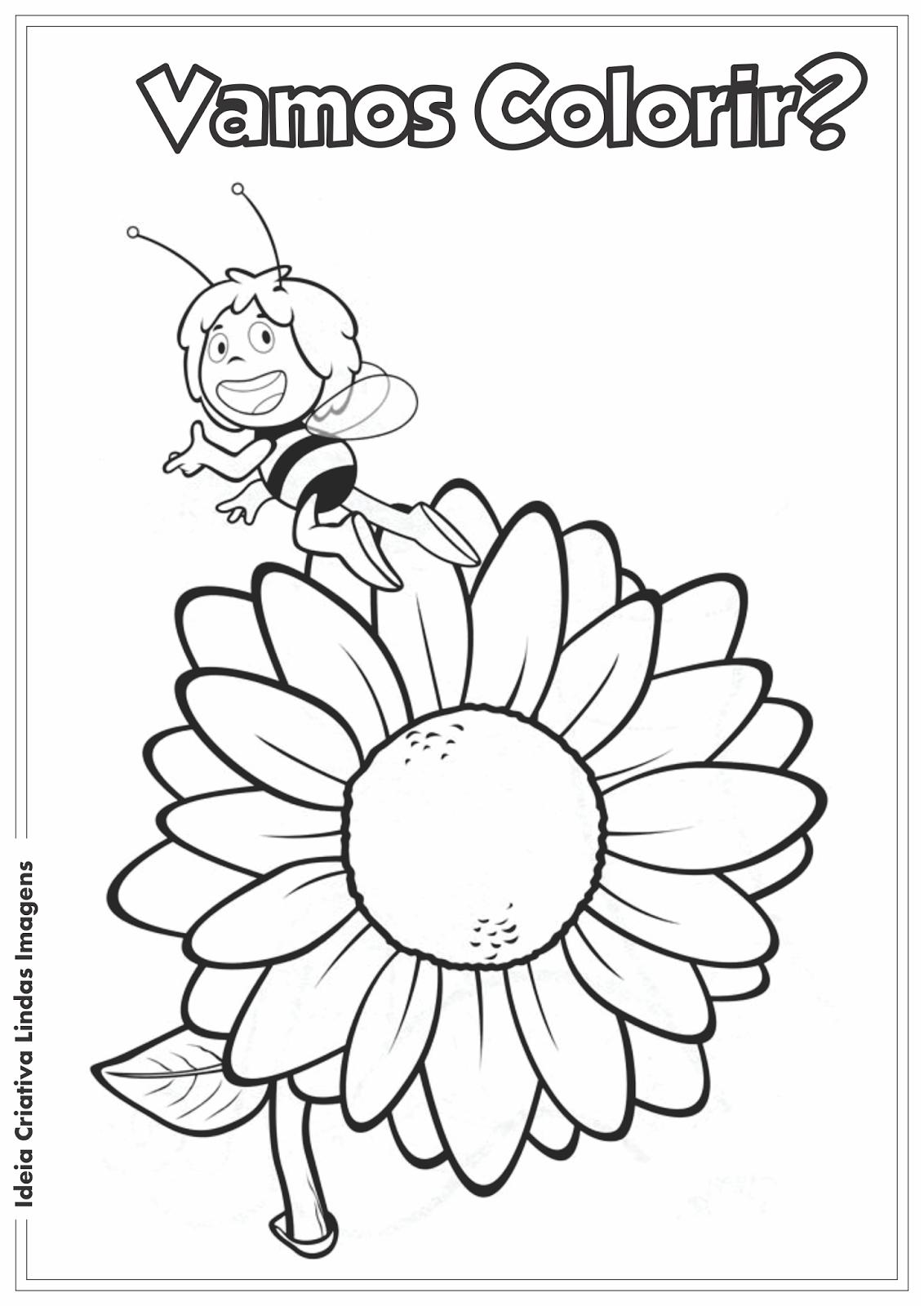 As Aventuras da Abelha Maia desenho para colorir