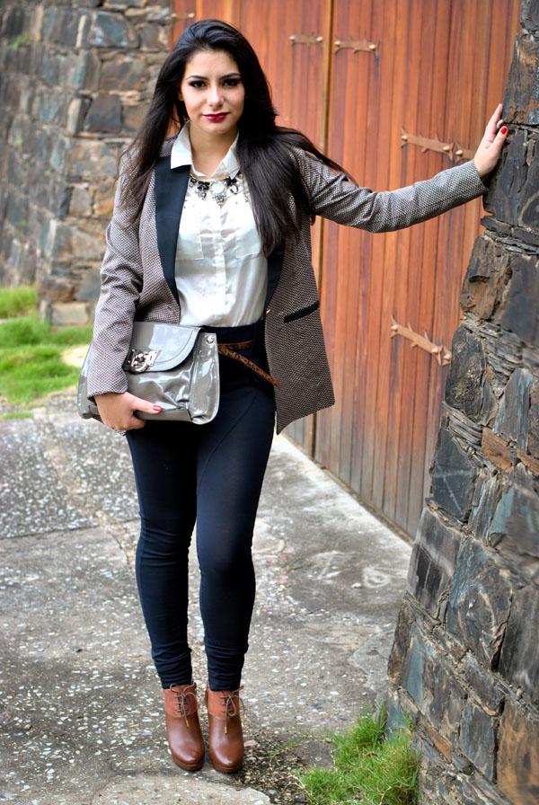 Barbara Urias - look boyish com blazer - referências masculinas - andrógeno