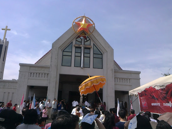 Catholic Church of Rangsit during the Solemnity of Mother of God.