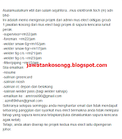 Job Vacancy Mus Electronik Teknologi