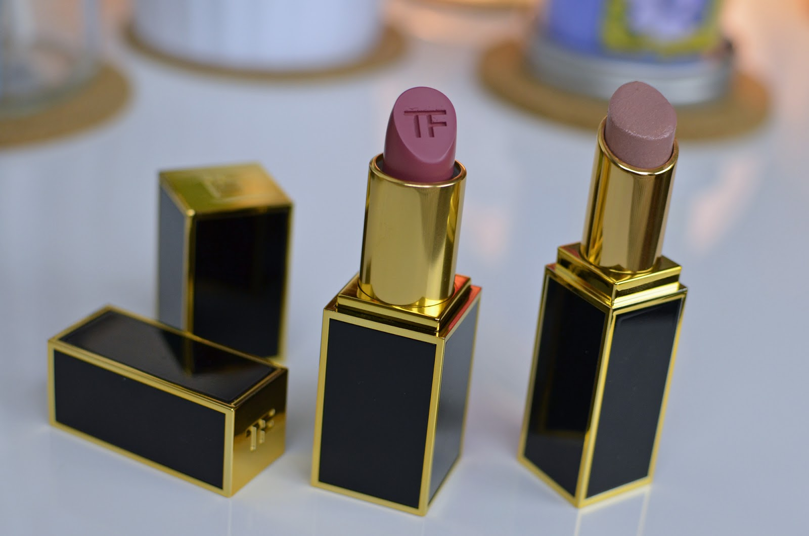 Tom Ford Lip Color Matte in Pussycat and Tom Ford Lip Color Shine in Bare