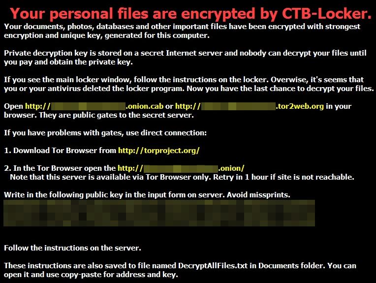 Làm thế nào để Hủy bỏ CTB-Locker Virus và phục hồi file được mã hóa