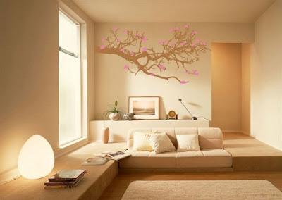 Agac+dal%25C4%25B1+motifli+duvar+sticker Evinize Duvar Sticker Modelleriyle Renk Katın