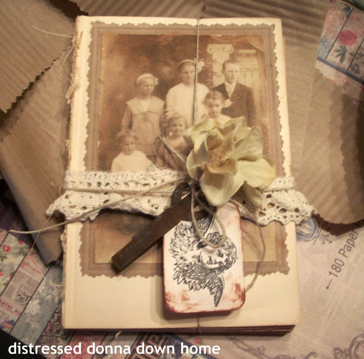 altered books, vintage photos, vintage books