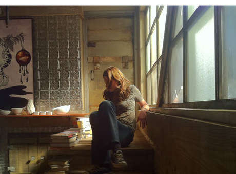 Stana Katic in Beckett's Apartment