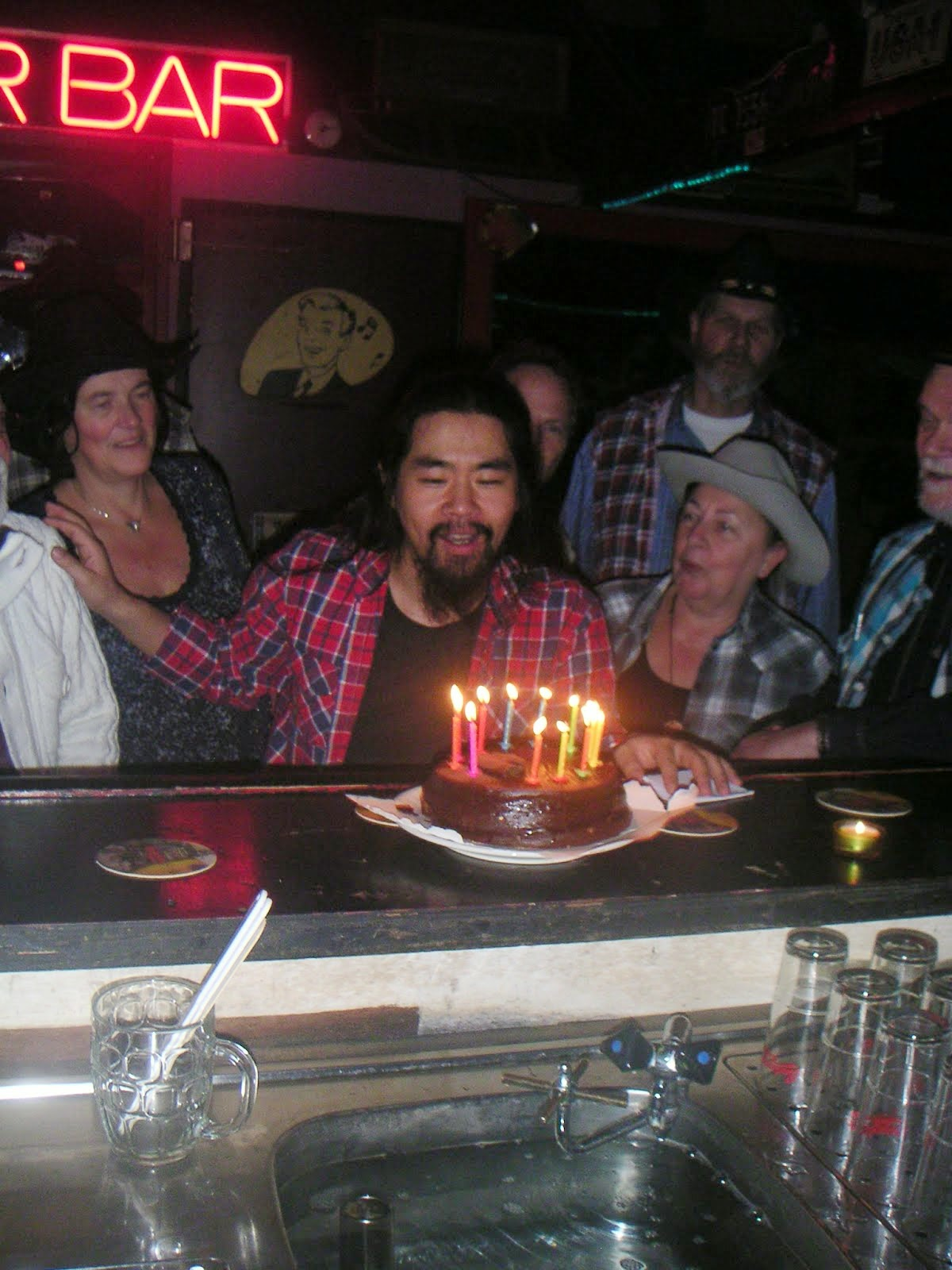 Takao's verjaardagfeest bij de Amsterdam Amigos donderdag 20 november 2014