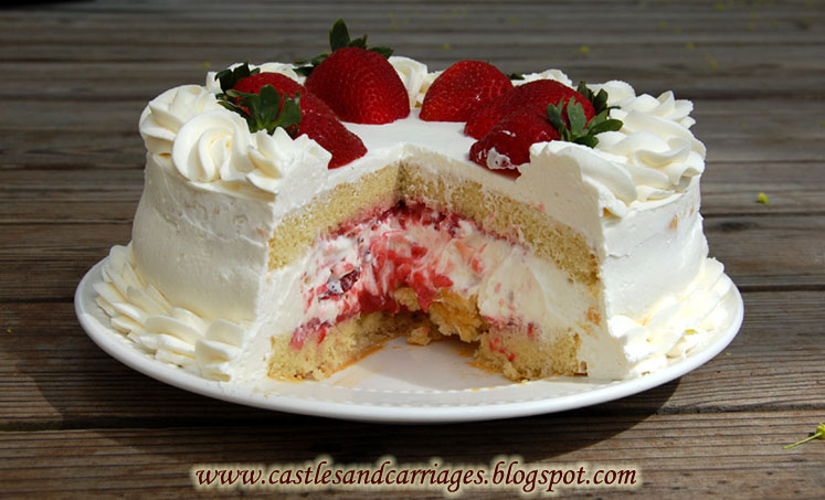 Strawberry Whipped Cream Cake The combination of the whipped