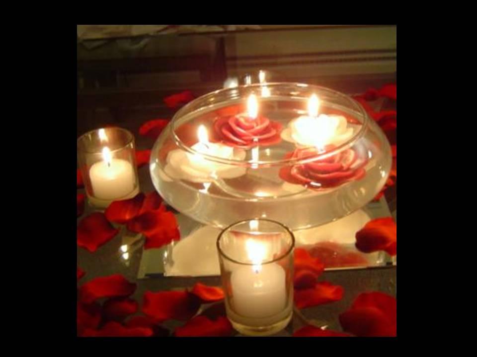 Centros de mesa con velas flotantes car interior design - Hacer un centro de mesa ...