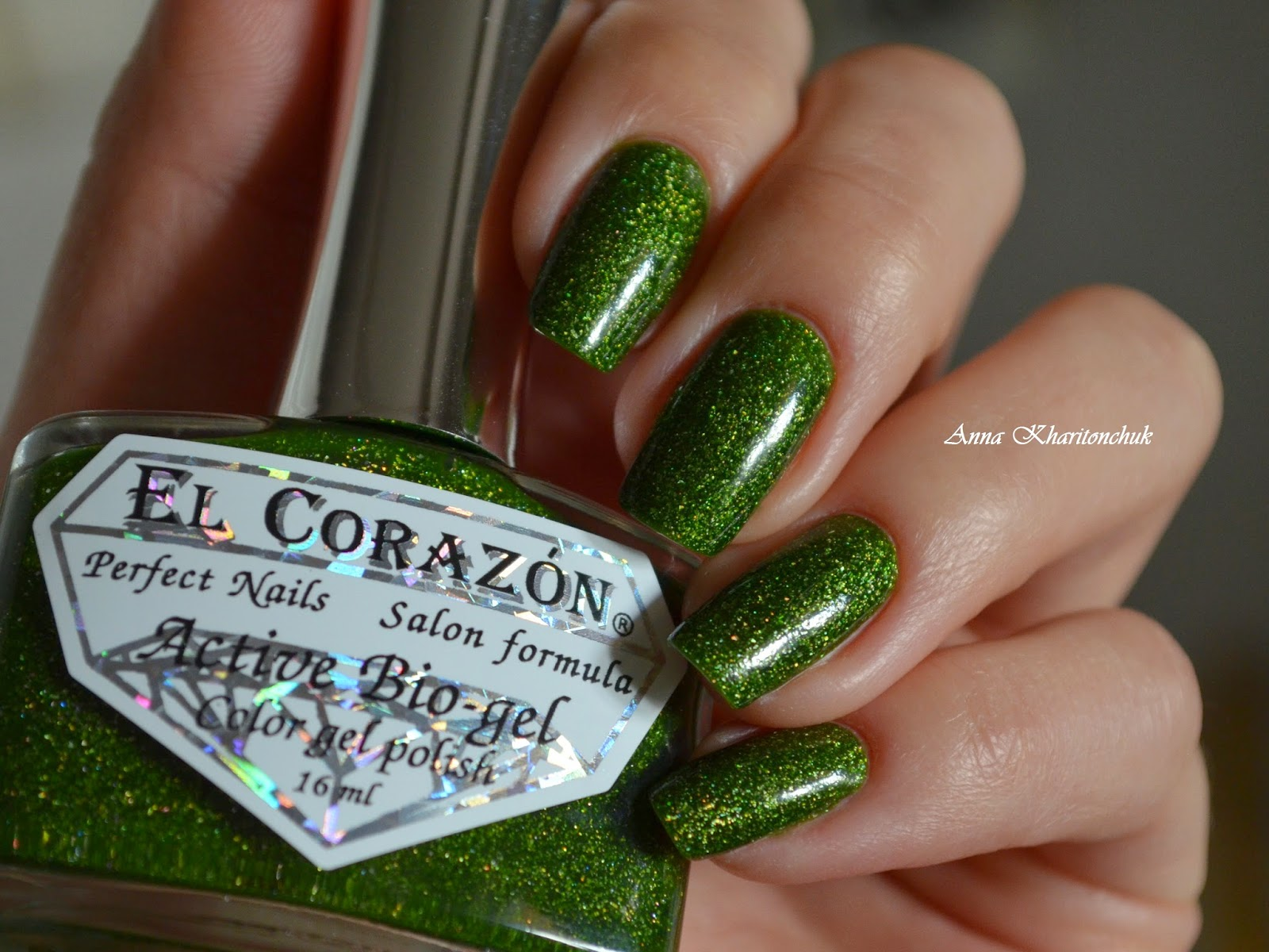 El Corazon Active Bio-Gel # 423/507 Large Hologram Nymph и слайдер дизайн