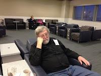 John asleep in the London Heathrow A A Club