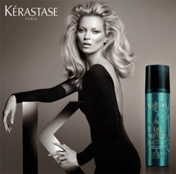Kate Moss e os produtos Kérastase linha Couture Styling para o cuidado dos cabelos