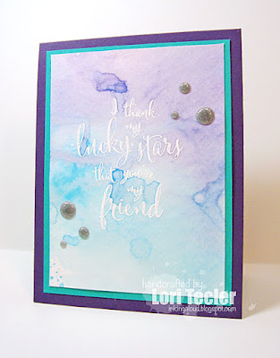 Lucky Stars card-designed by Lori Tecler/Inking Aloud-stamps from WPlus9