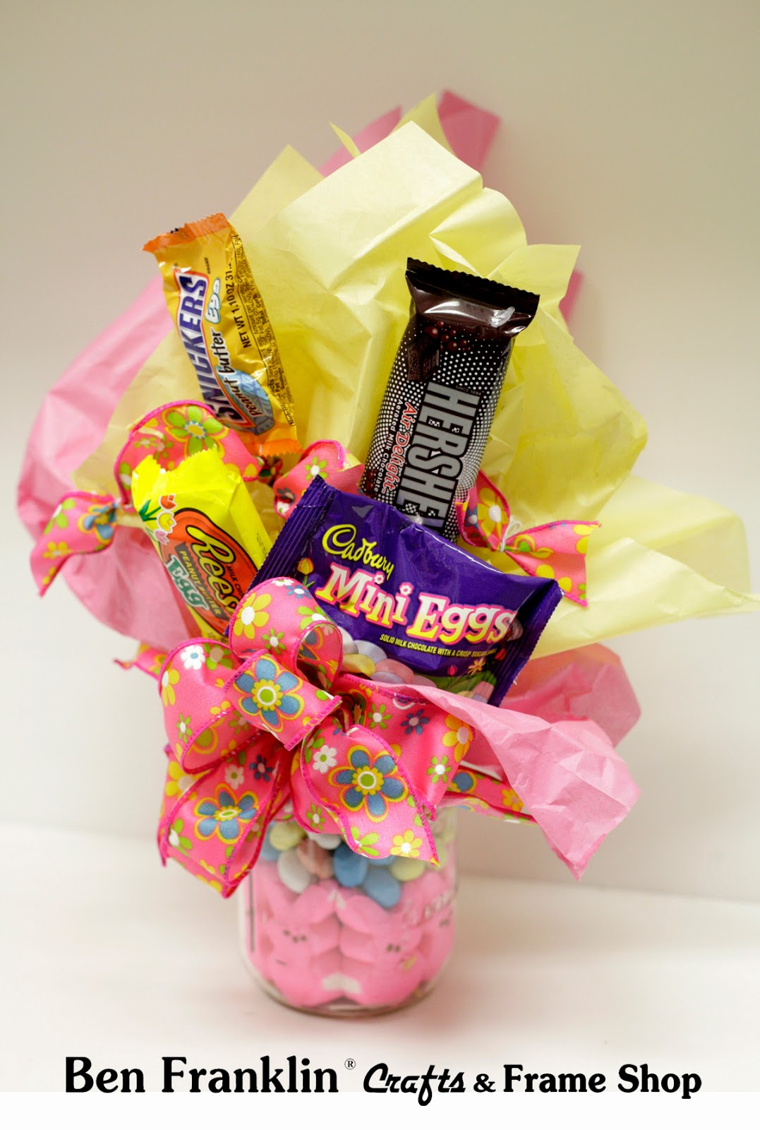 How to make a candy bouquet with mason jar buffet design
