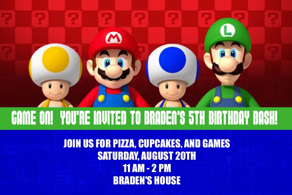 Our Homemade Happiness: Super Mario Birthday Party Ideas
