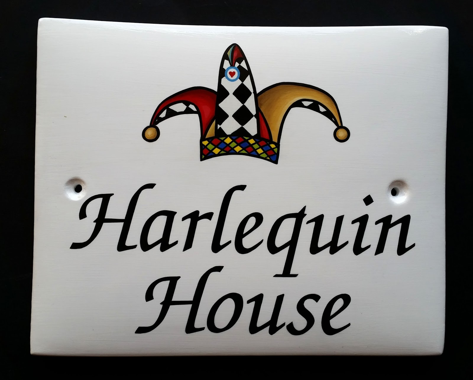 hand painted house signs by ceramic art traditional style. Black Bedroom Furniture Sets. Home Design Ideas