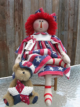 July 4th Raggedy Ann and Teddy