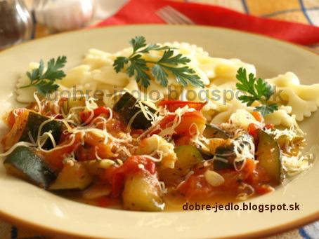 Cuketovo-paradajkové cestoviny - recepty
