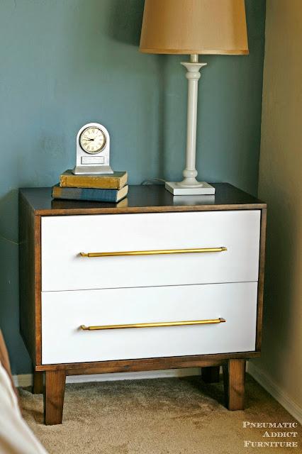 Modern two tone nightstand dresser tutorial