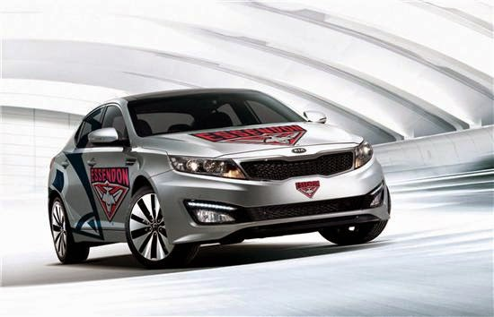 KIA optima essendon bombers