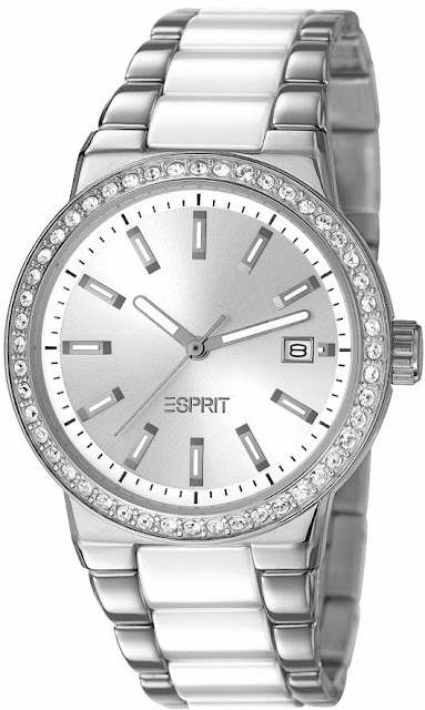 Esprit Timewear Opera of Allure - Feather Ceramic White Watch Price India