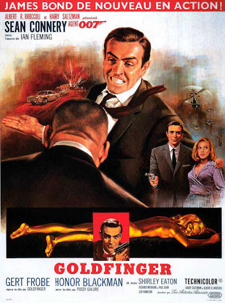 Poster Of James Bond Goldfinger 1964 720p Hindi BRRip Dual Audio Full Movie