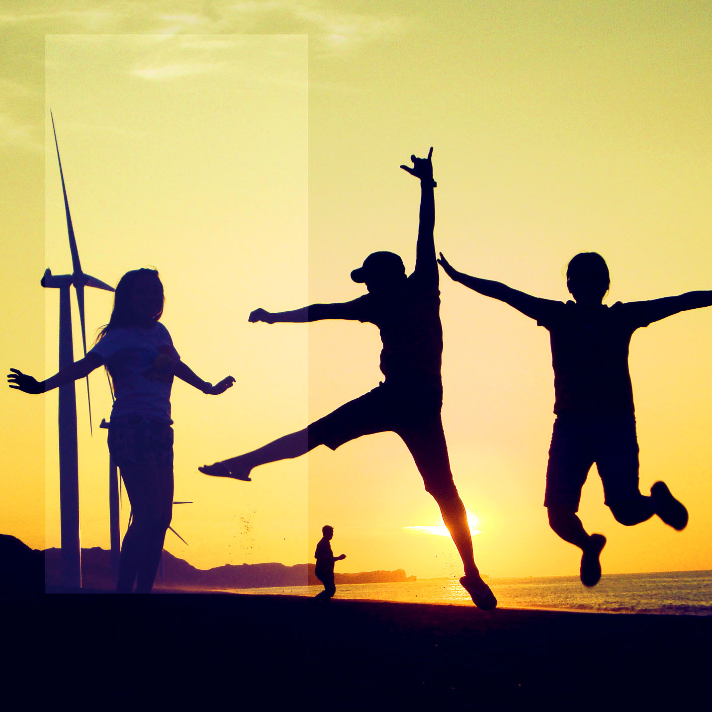 Afternoon sunset photo of Bangui windmills in Ilocos Norte