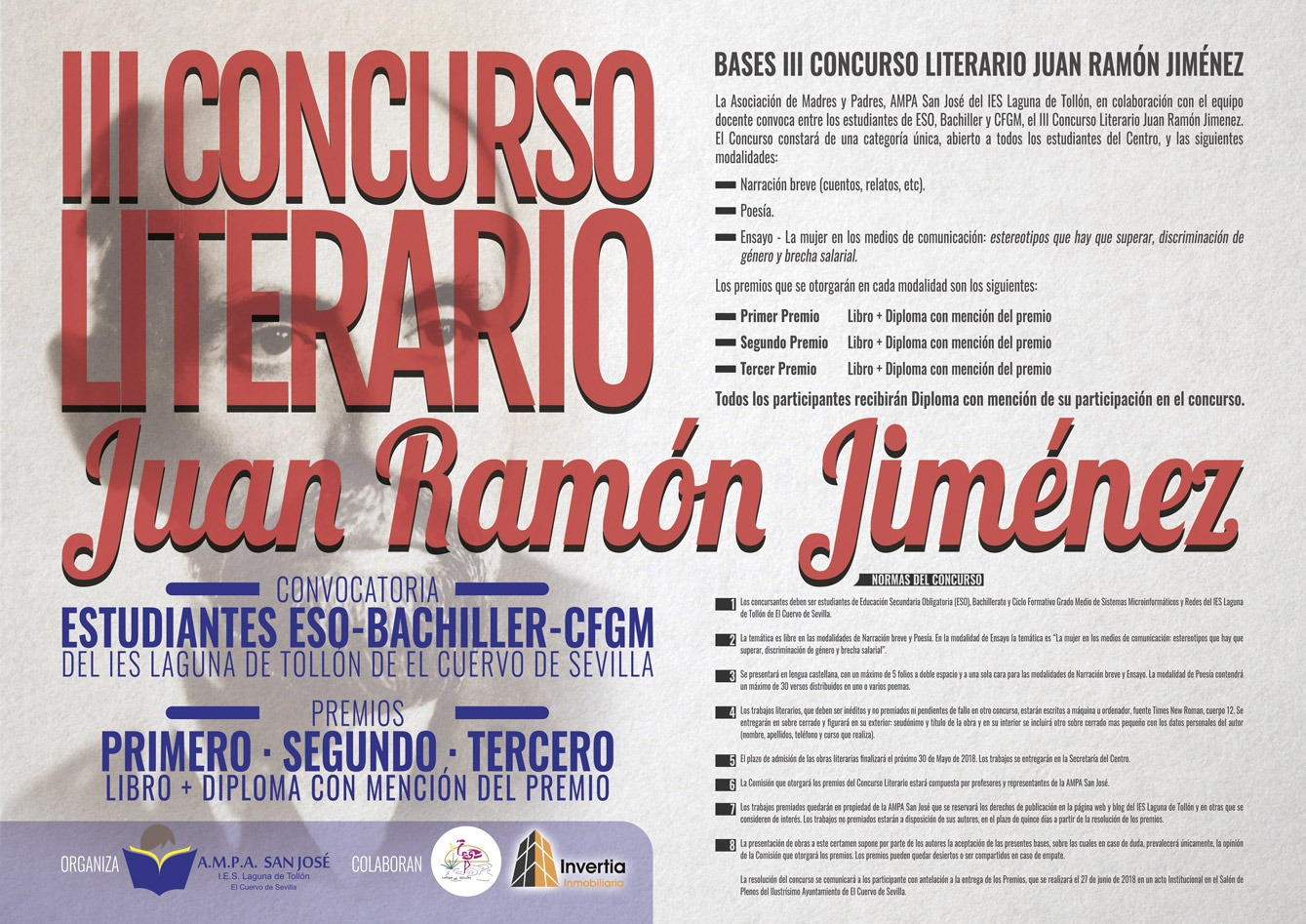 III Concurso Literario Juan Ramón Jiménez