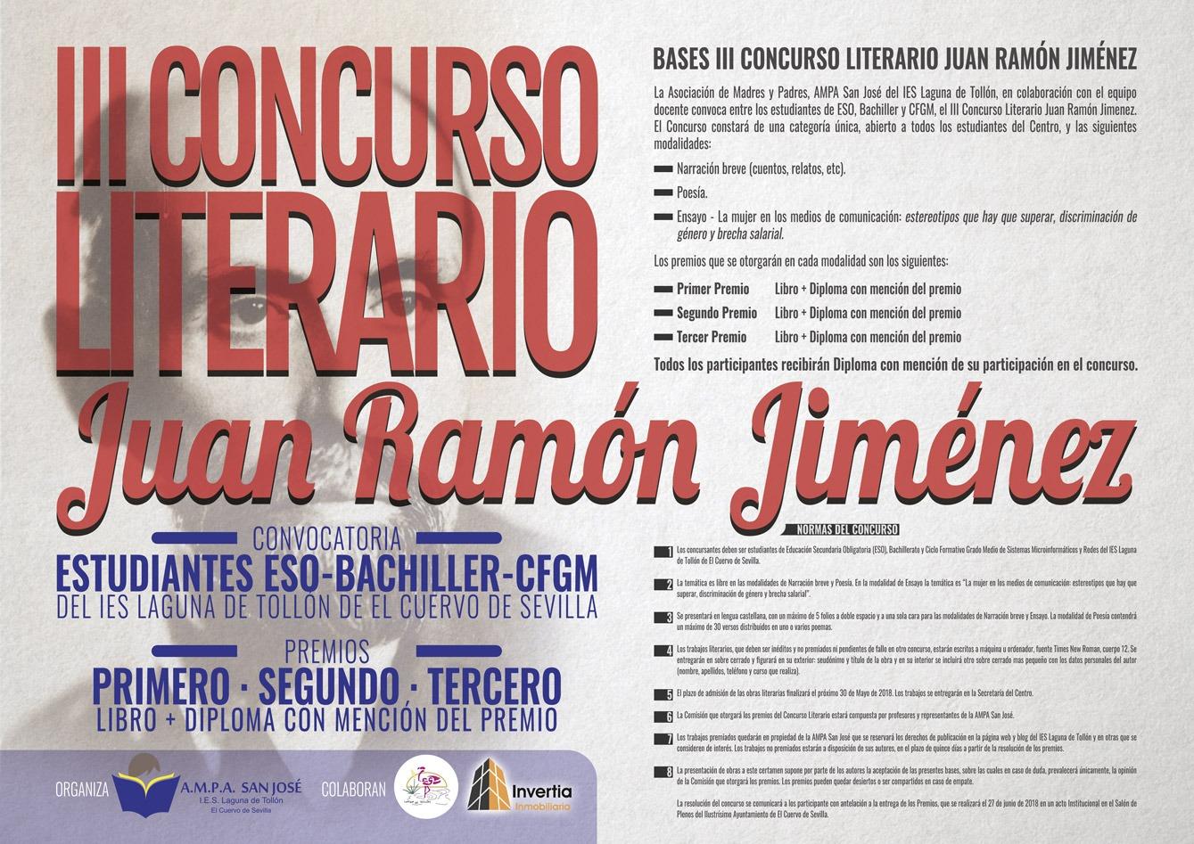 III Concurso Literario Juan Ramón Jiménez