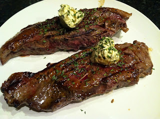 Sirloin with Garlic Butter  from Katie-Kate's Kitchen