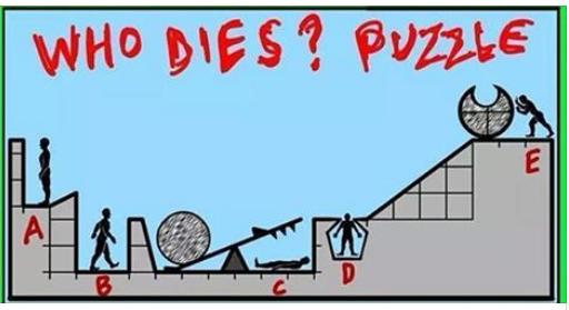 لغز من الذي مات و الكرة المنحدرة المجوفة who dies puzzle and ball