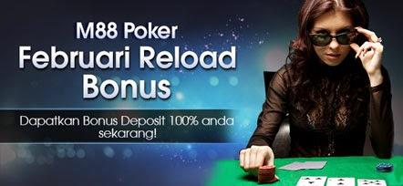 M88 Poker Februari Bonus sampai dengan $200