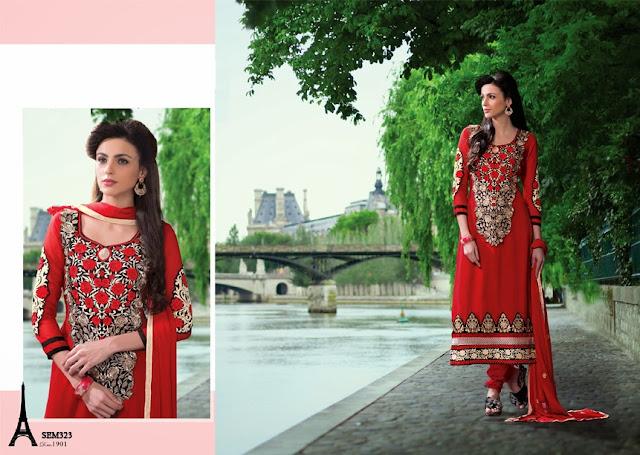 Buy Online Heavy Neck Embroidery Anarkali Suit