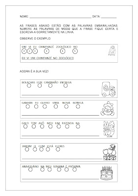 Alfabetização e Letramento - Formar Frases 2