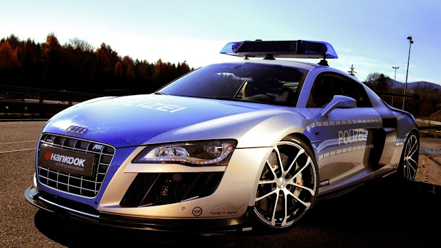1829-Audi Police Car HD Wallpaperz