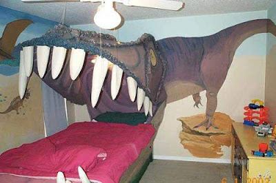 Graffiti Murals for Bedrooms T-Rex Theme