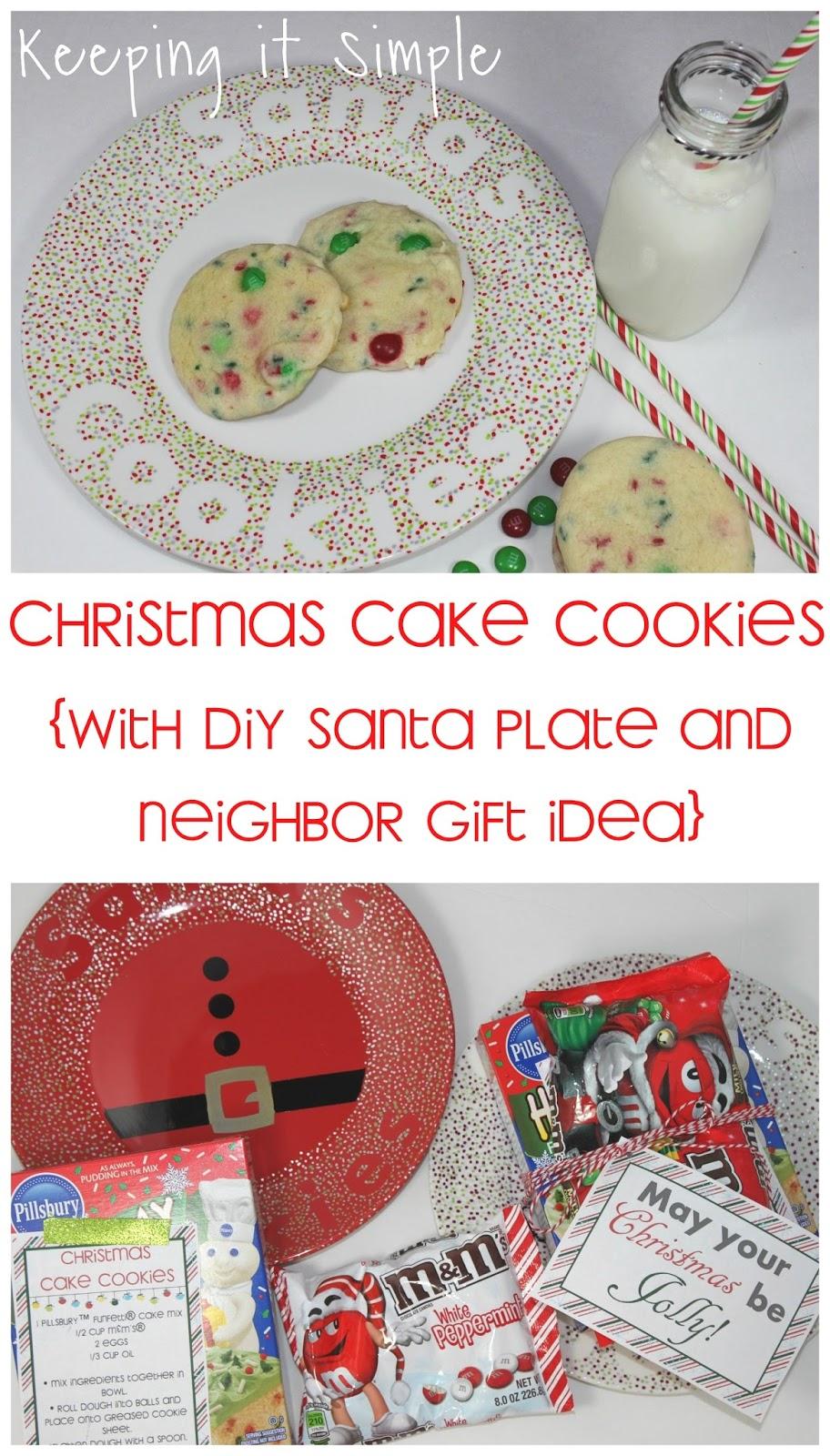 Santa S Cookies Recipe Christmas Cake Cookies With Diy Santa Plate