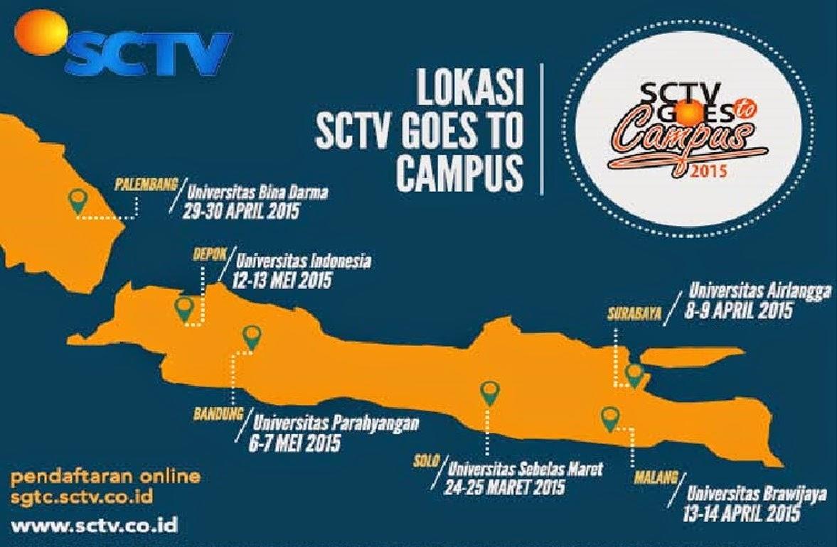 Lomba Presenter TV di SCTV Goes To Campus 2015
