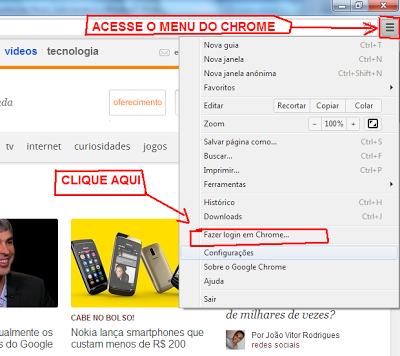 Fazer login no Chrome