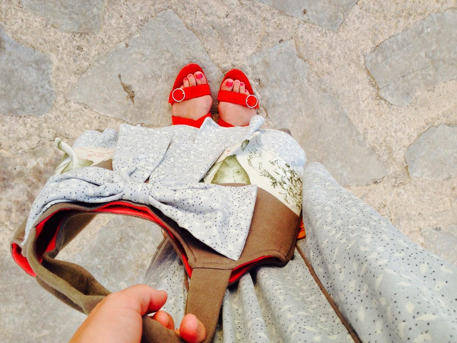 Vestido y bolso crafty chic de Mamatayoe colección de verano