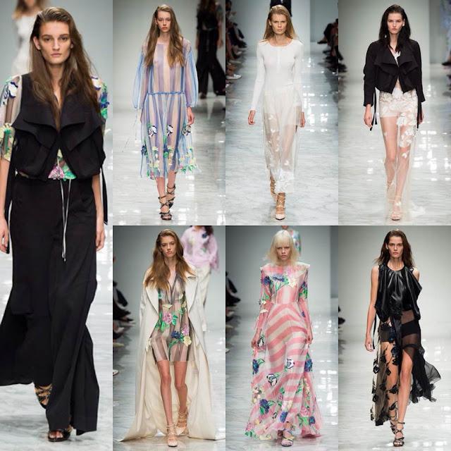 Il romanticismo dei capi di Blumarine viene esaltato ancor di più dalla scelta dei tessuti e dai colori, talvolta tenui, utilizzati dalla stilista Anna Molinari. Sono presenti motivi floreali e pantaloni e giacche ampie che danno libertà di movimento.