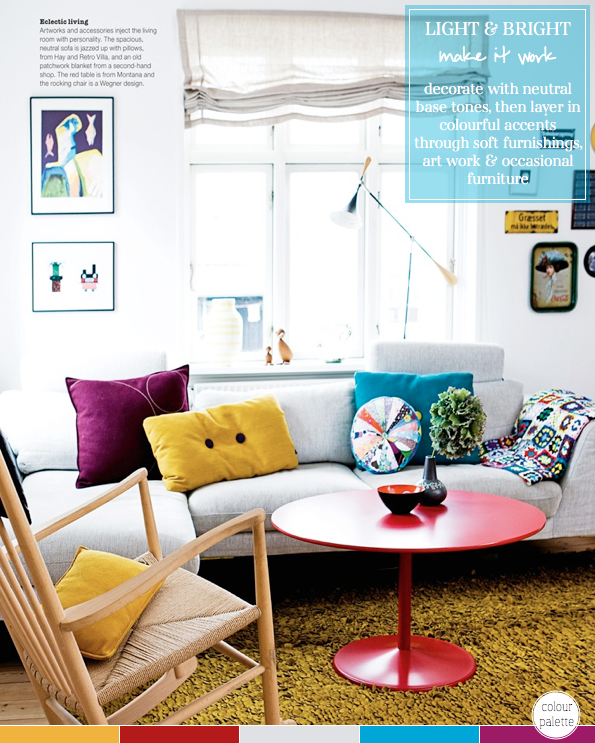 colour palette eclectic living room bright bazaar by