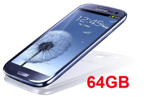 La vendita della versione a 64 GB del Galaxy S 3 a partire dalla seconda metà del 2012