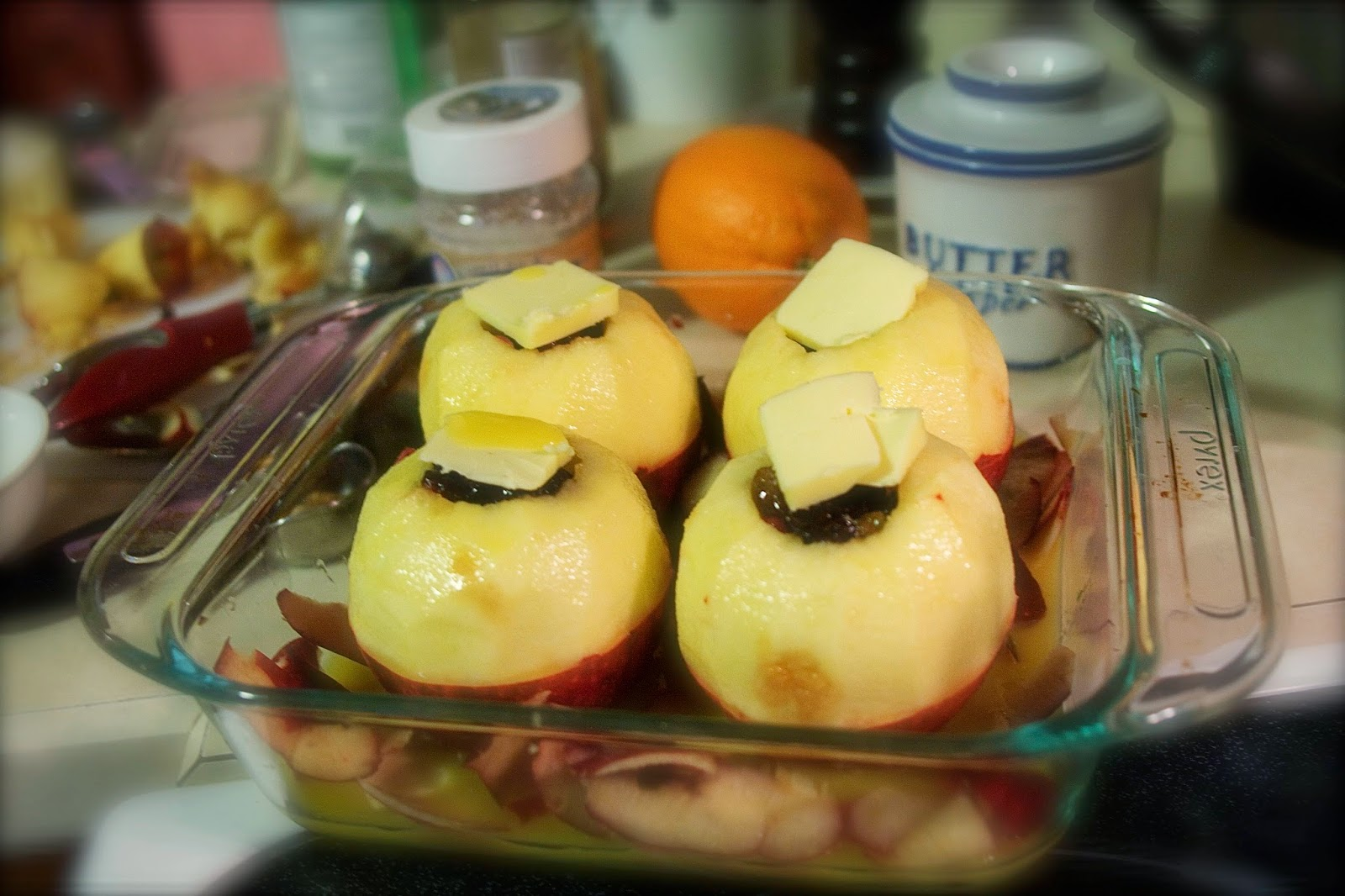 apples before baking: simple living and eating